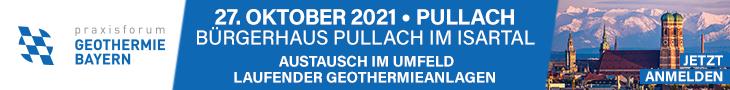 Praxisforum Geothermie.Bayern am 27. Oktober 2021